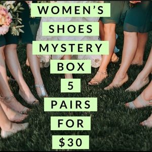 Mystery Box Women's Shoes! 5 pairs for $30